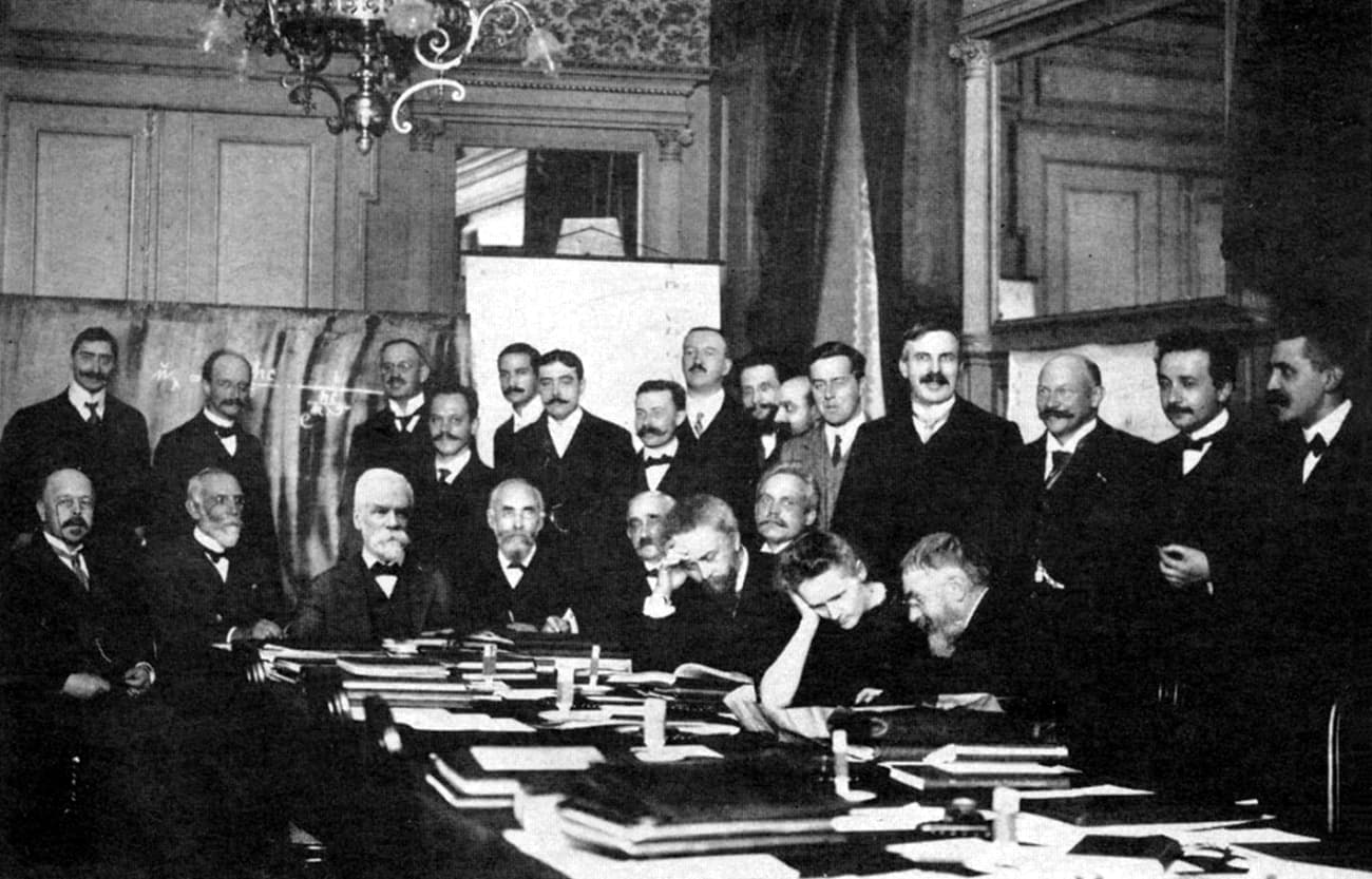 Marie Curie - the only women at the 1911 Solvay Conference