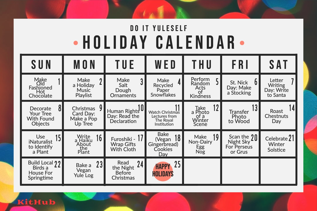 KitHub Do It Yuleself Holiday Calendar