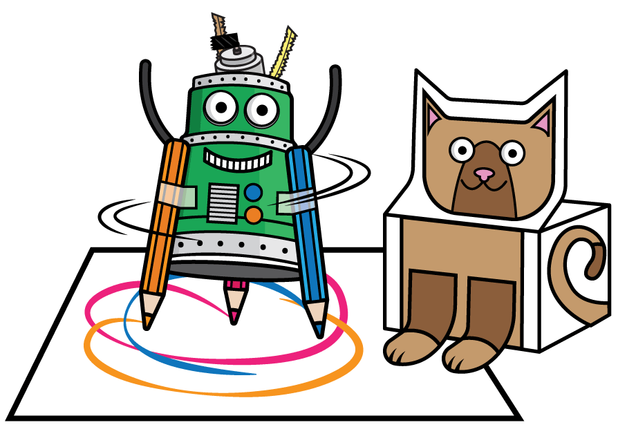 Illustrated Motorized ArtBot
