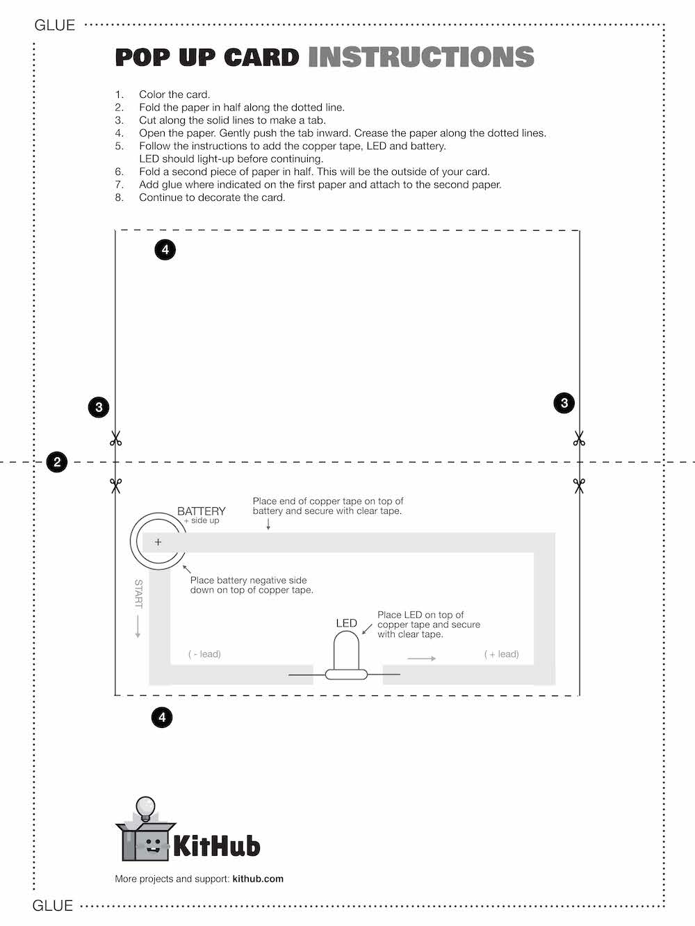 KitHub Spring Paper Circuit Template 2